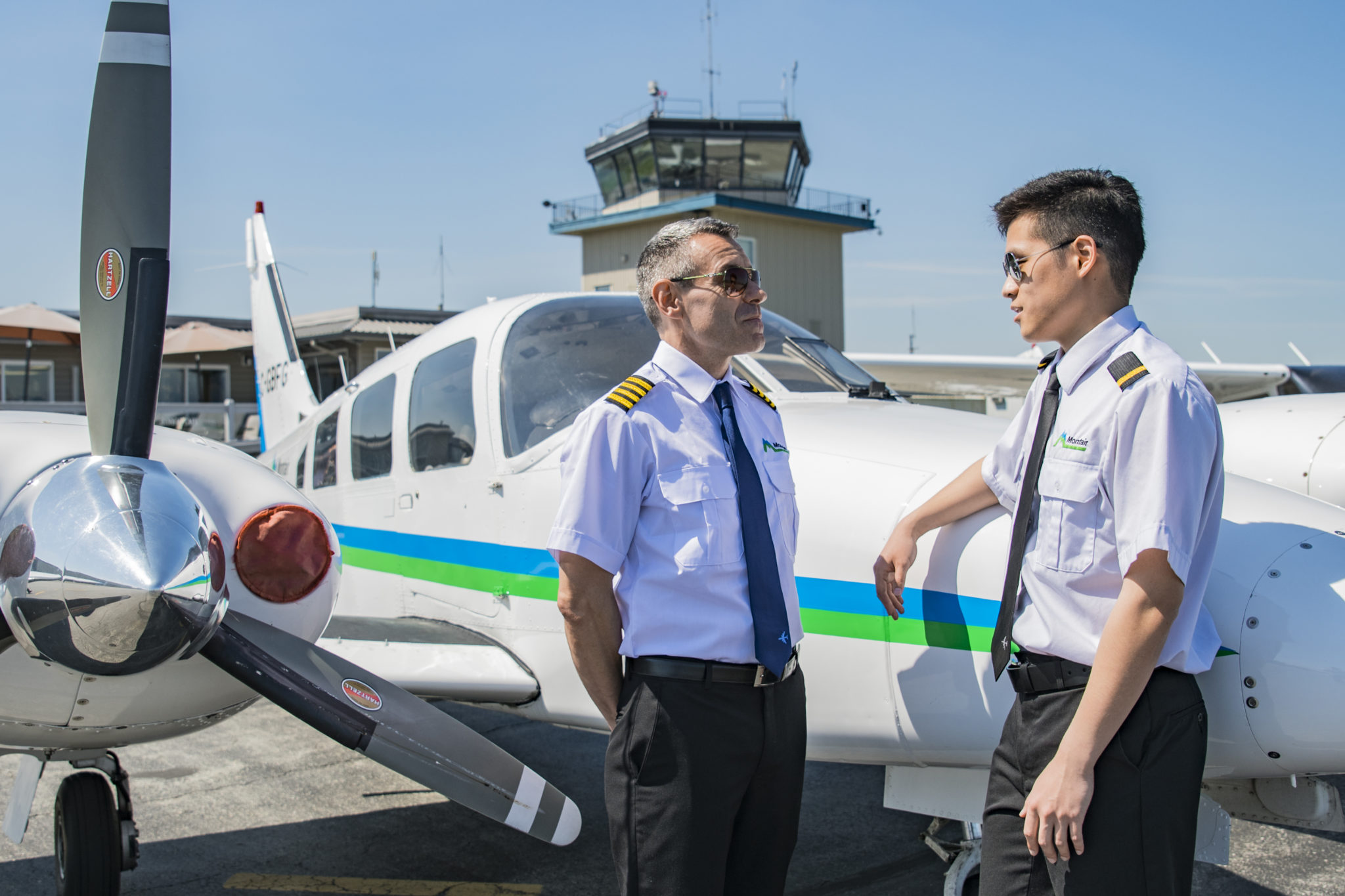Montair flight instructor with student pilot