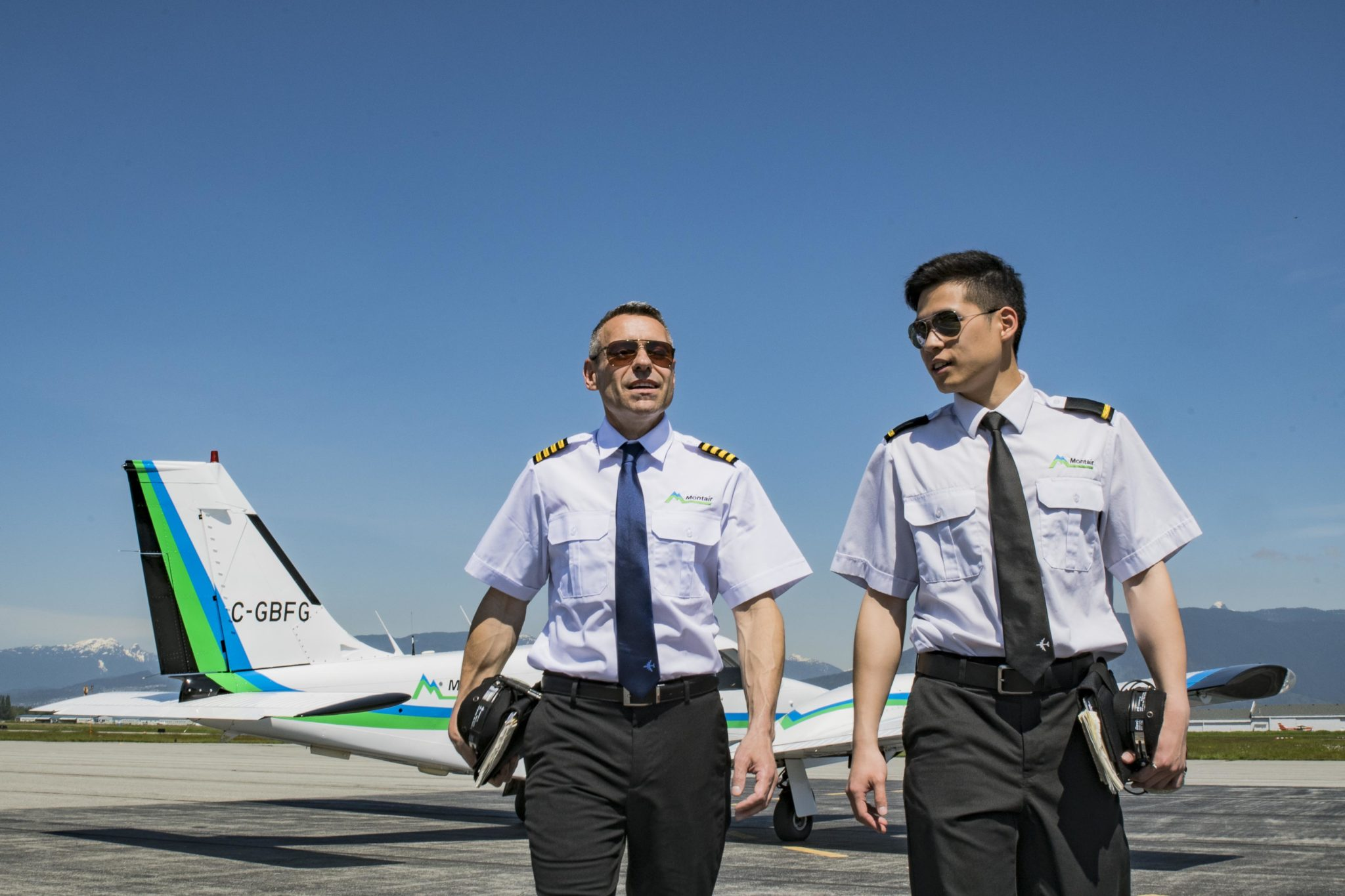 Flight instructor with Albert