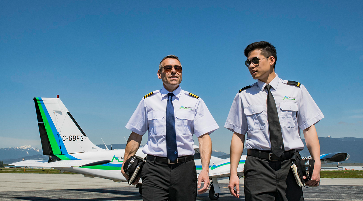 Flight Instructor and student